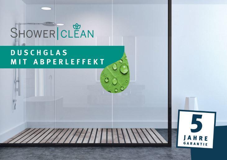 SHOWER|CLEAN – Duschglas mit Abperleffekt